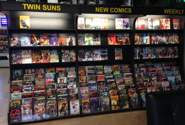 We keep our shelves stocked with a wide variety of the most current comic book publications.