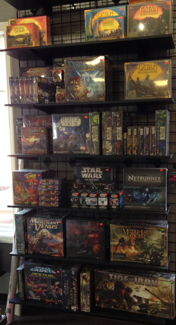 This is another shelf of awesome board games.